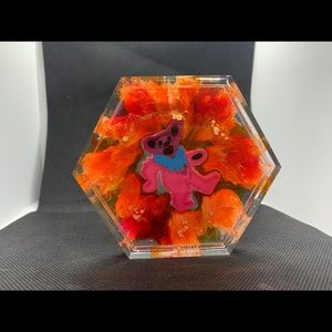 Grateful Dead bear coaster handmade